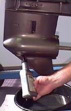Меняем масло в редукторе мотора Tohatsu